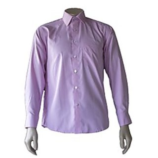 Saffire Purple Colored Cotton Polyester Formal Shirt (Option 4)