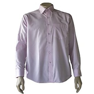 Saffire Pink Colored Cotton Polyester Formal Shirt