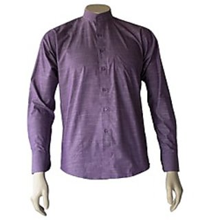 Saffire Purple Colored Cotton Polyester Formal Shirt (Option 2)