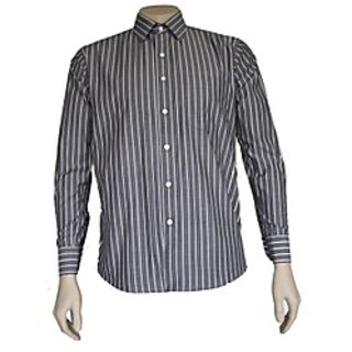 Saffire Grey Colored Cotton Blend Formal Shirt (Option 2)