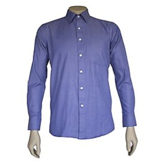 Saffire Blue Colored Cotton Blend Formal Shirt (Option 2)