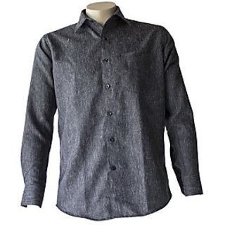 Saffire Black Colored Linen Formal Shirt (Option 3)