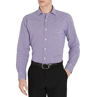 Saffire Purple Colored Cotton Rich Formal Shirt