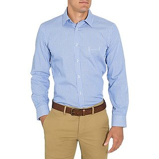 Saffire Blue Colored Cotton Rich Formal Shirt (Option 8)