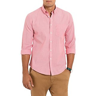 Saffire Pink Colored Cotton Rich Formal Shirt (Option 2)