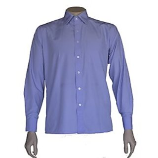 Saffire Blue Colored Art Silk Formal Shirt (Option 1)