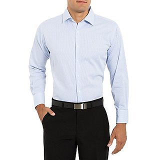 Saffire Blue Colored Cotton Rich Formal Shirt (Option 3)