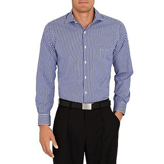 Saffire Blue Colored Cotton Rich Formal Shirt (Option 4)