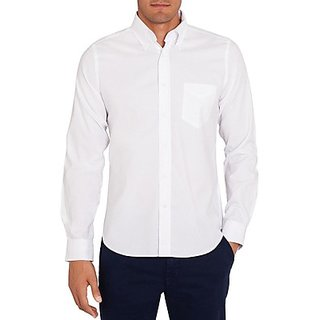 Saffire White Colored Cotton Formal Shirt