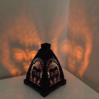 Mettalic Buddha Lamp