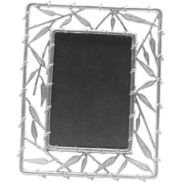 Sage Koncpt Bamboo Photo Frame 4x6 ( Silver Plated )