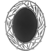 Sage Koncpt Bamboo Oval Photo Frame 5x7 ( Silver Plated )