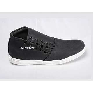 Canopus black with white sports shoe for men