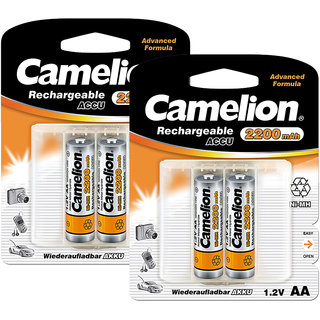 camelion nh aa2200bc2 x 2 pack rechargeable battery in