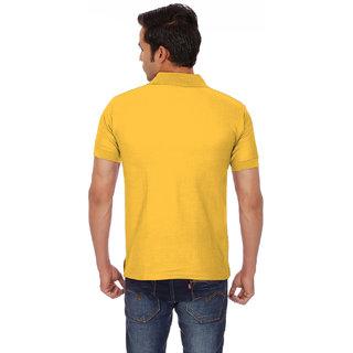 Chakravarthi Mens Gold Polo T - Shirt