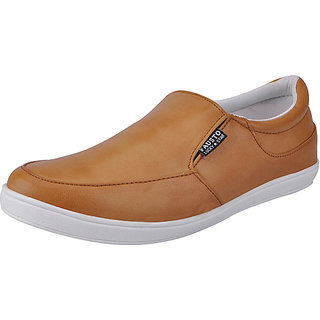 Fausto MenS Tan Casual Loafers (FST 1650 TAN)