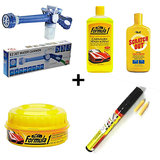 Autofurnish Car Cleaner All-in-one Combo - Water Spray Gun, Polish, Shampoo, Scr