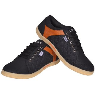 Sukun MenS Black Casual Lace-Up Shoes (DMD9223BLK)