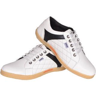 Sukun MenS White Casual Lace-Up Shoes (DMD9223WHT)
