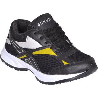 Sukun Black Sport Shoes (SPT15005BLK)
