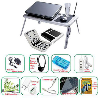 Combo of Avis Laptop Utility Kit With Dual Cooling Fan Laptop E Table + Optical available at ShopClues for Rs.3000