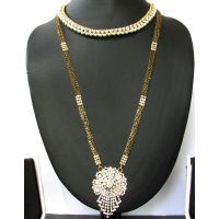 Buy 1 Mangalsutra get 1 Stone Necklace Free