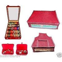 Atorakushon 5Pack rolla  jewelery box combo of bangle box cover and pouches set of 5