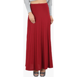 8714f9076b7 Maroon Flared Long Skirt For Womens available at ShopClues for Rs.1099