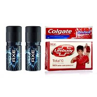 Combo Set Of Two Axe Deo , Lifebuoy Soap  Colgate Toothpaste