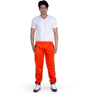 Mens Sporty Trackpant Orange-Black
