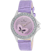 Swisstone VOGLR501-PURPLE Purple Dial Purple Strap Analog Wrist Watch For Women/Girls