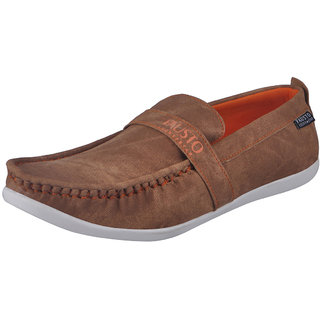 Fausto MenS Tan Casual Loafers (FST 1055 TAN)
