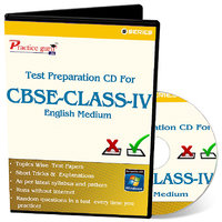 Test Preparation CD For Class 4 - Maths, EVS  English Combo