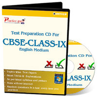 Test Preparation CD For Class 9 - Maths, Science  English Combo
