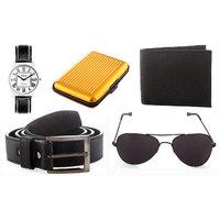 Rodeo Combo Of Watch, Sunglass, Belt, Wallet And Aluminium Wallet
