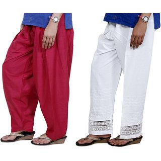 Indiweaves Women Cotton Semi-Patiala - Patiala Salwar Set Of -2  7131271324-Iw