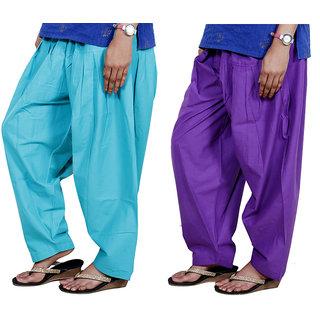 Indiweaves Women Cotton Semi-Patiala Salwar Set Of -2  7131371319-Iw