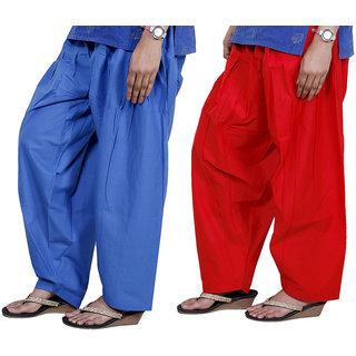 Indiweaves Women Cotton Semi-Patiala Salwar Set Of -2  7131471317-Iw