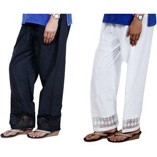 Indiweaves Women Cotton  Chaudi Lece Semi-Patiala Salwar Set Of -2  7132271326-Iw