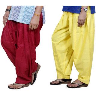 Indiweaves Women Cotton Semi-Patiala Salwar Set Of -2  7130316-Iw
