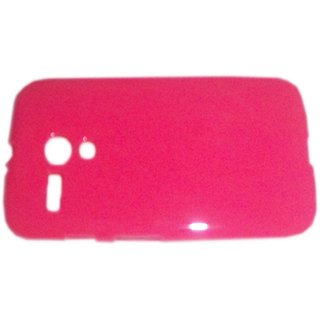 Pink Soft Rubberized TPU Back Cover Case for Motorola Moto G XT1031 / XT1032