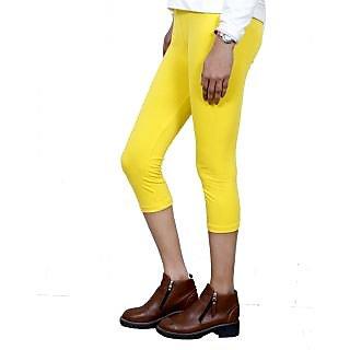 Indiweaves Girls Cotton Legging With Cotton Capri Set Of- 5  7180406090500-Iw