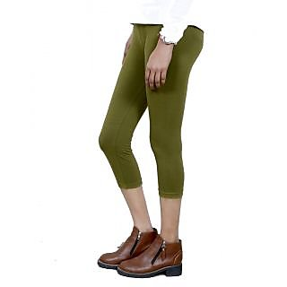 Indiweaves Girls Cotton Legging With Cotton Capri Set Of- 5  7180809020700-Iw