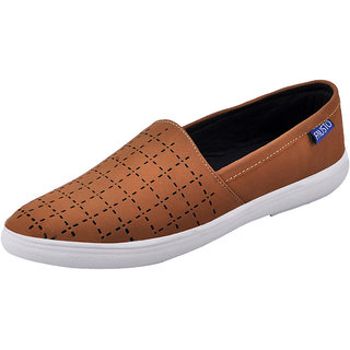 Fausto MenS Tan Casual Loafers (FST K6038 TAN)