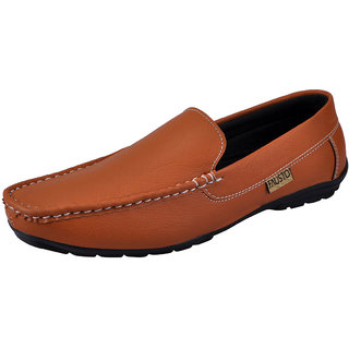 Fausto MenS Tan Casual Loafers (FST K6049 TAN)