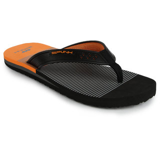 Spunk Vista Black,Orange Flip Flops (Vista)