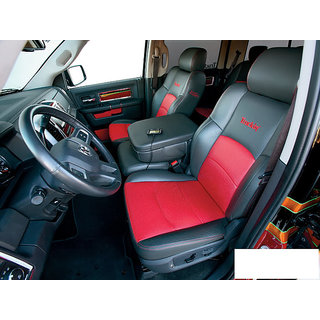 renault duster leatherite car seat cover red black prices in india shopclues online shopping. Black Bedroom Furniture Sets. Home Design Ideas