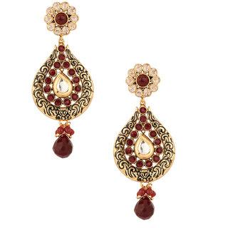 Pretty Tear Drop Styled Gold Plated Earrings