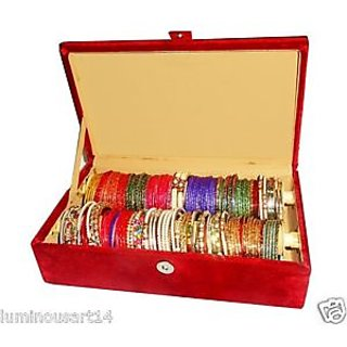 Atorakushon 2 roll rod wooden bangles box jewelery box jewellery box Chudi Box