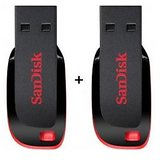 SALE- New Style Combo Of Sandisk Cruzer Blade 8GB + 8GB Pendrive (100 % Original) Sourced From Brand- Guarantee Of Authenticity